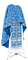 Greek Priest vestment -  Paschal Cross metallic brocade B (blue-silver), Premium design