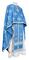 Greek Priest vestments - Eufrosinia metallic brocade B (blue-silver), Standard design
