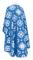 Greek Priest vestments - Kostroma metallic brocade B (blue-silver) back, Standard design