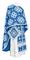 Greek Priest vestments - Kostroma metallic brocade B (blue-silver), Standard design