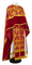Greek Priest vestments - Pskov metallic brocade B (claret-gold) with velvet inserts, Standard design