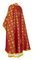 Greek Priest vestments - Lavra metallic brocade B (claret-gold) back, Standard design
