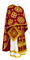 Greek Priest vestments - Kostroma metallic brocade B (claret-gold), Standard design