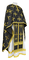 Greek Priest vestments - Eufrosinia metallic brocade B (black-gold), Standard design