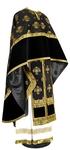 Greek Priest vestment -  metallic brocade B (black-gold)