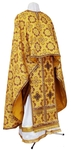 Greek Priest vestment -  metallic brocade B (yellow-claret-gold)