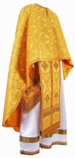 Greek Priest vestment -  metallic brocade B (yellow-gold)
