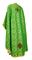 Greek Priest vestments - Vasilia metallic brocade B (green-gold) back, Economy design
