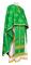 Greek Priest vestments - Eufrosinia metallic brocade B (green-gold), Standard design