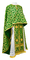 Greek Priest vestments - Cappadocia metallic brocade B (green-gold), Standard design