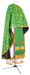 Greek Priest vestment -  metallic brocade B (green-gold)