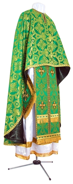 Greek Priest vestment -  metallic brocade B (green-gold)