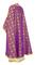 Greek Priest vestments - Lavra metallic brocade B (violet-gold) back, Standard design