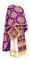 Greek Priest vestments - Kostroma metallic brocade B (violet-gold), Standard design