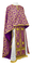 Greek Priest vestments - Cappadocia metallic brocade B (violet-gold), Standard design