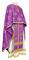 Greek Priest vestments - Eufrosinia metallic brocade B (violet-gold), Standard design