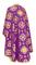 Greek Priest vestments - Kostroma metallic brocade B (violet-gold) back, Standard design