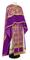 Greek Priest vestments - Pskov metallic brocade B (violet-gold) with velvet inserts, Standard design
