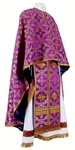 Greek Priest vestment -  metallic brocade B (violet-gold)