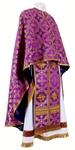 Greek Priest vestment -  metallic brocade B (violet-gold)
