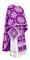 Greek Priest vestments - Kostroma metallic brocade B (violet-silver), Standard design