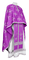 Greek Priest vestments - Eufrosinia metallic brocade B (violet-silver), Standard design
