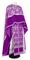 Greek Priest vestments - Pskov metallic brocade B (violet-silver) with velvet inserts, Standard design