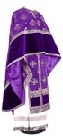 Greek Priest vestment -  metallic brocade B (violet-silver)