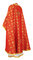 Greek Priest vestments - Lavra metallic brocade B (red-gold) back, Standard design