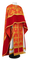 Greek Priest vestments - Pskov metallic brocade B (red-gold) with velvet inserts, Standard design