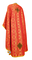 Greek Priest vestments - Vasilia metallic brocade B (red-gold) back, Economy design