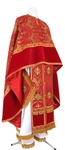 Greek Priest vestment -  metallic brocade B (red-gold)
