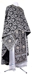 Greek Priest vestment -  metallic brocade B (black-silver)