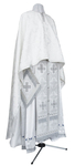 Greek Priest vestment -  metallic brocade B (white-silver)
