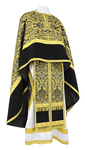 Greek Priest vestment -  metallic brocade BG1 (black-gold)