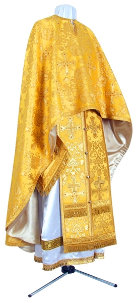 Greek Priest vestment -  metallic brocade BG1 (yellow-claret-gold)