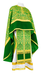 Greek Priest vestment -  metallic brocade BG1 (green-gold)