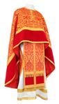 Greek Priest vestment -  metallic brocade BG1 (red-gold)