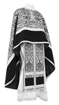Greek Priest vestment -  metallic brocade BG1 (black-silver)