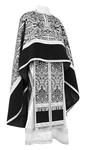 Greek Priest vestment -  metallic brocade BG1 (black-silver)