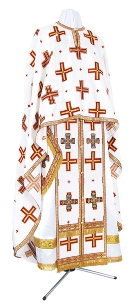 Greek Priest vestment -  metallic brocade BG1 (white-gold)