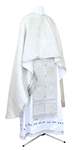 Greek Priest vestment -  metallic brocade BG1 (white-silver)