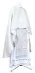 Greek Priest vestment -  metallic brocade BG1 (white-silver)