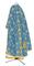 Greek Priest vestments - Golgotha metallic brocade BG2 (blue-gold) back, Standard design