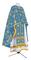Greek Priest vestments - Golgotha metallic brocade BG2 (blue-gold), Standard design