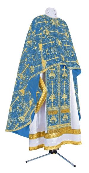 Greek Priest vestment -  metallic brocade BG2 (blue-gold)