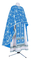 Greek Priest vestments - Golgotha metallic brocade BG2 (blue-silver), Standard design