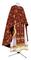 Greek Priest vestments - Golgotha metallic brocade BG2 (claret-gold), Standard design