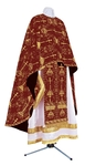 Greek Priest vestment -  metallic brocade BG2 (claret-gold)