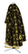 Greek Priest vestments - Golgotha metallic brocade BG2 (black-gold) back, Standard design